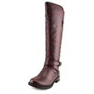 G by GUESS Womens Halsey Leather Tall Riding Boots